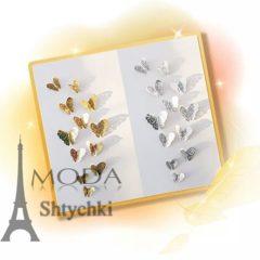 Бабочки зеркало с выбитым узором