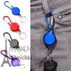 Выдвижной брелок - катушка для ключей, материал: метал/пластик.
