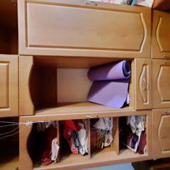 Высокий шкаф с антресолью
