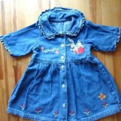 Детское джинсовое платье для малышки (3-6 мес.)