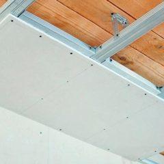 Монтаж прямої стелі з гіпсокартону