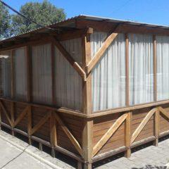 Продам літній майданчик, новий, дерев'яний зі склопакетами