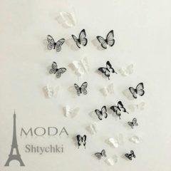 Бабочки для интерьера, 18 штук на листе