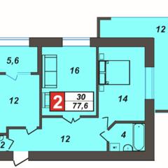 Продається 2-кімнатна квартира, сучасне планування, вул.Зарічанська