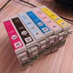 Продам оригінальні картриджі Epson, заправлені чорнилами Epson - 6 штук