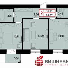 2-кімнатна квартира у розтермінування, від забудовника. Ближні Гречани