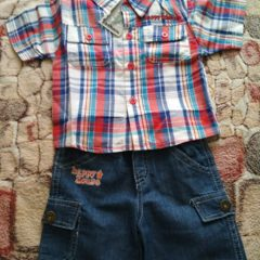 Комплект рубашка + шорти