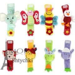 Мягкая игрушка-погремушка на руку, для маленьких деток
