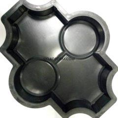 Форми для тротуарної плитки Клевер с кругами гладкий 4,5 см