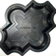 Формы для тротуарной плитки Клевер узорный 4,5 см