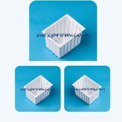 Прямоугольная форма для мягкого сыра 0,35 кг Адыгейский сыр с молока
