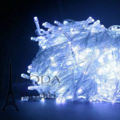 Гирлянда электрическая LED 100, белая, на 100 лампочек