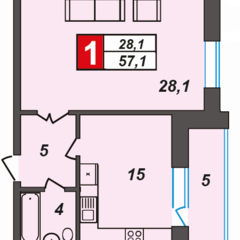 Продам 1-кімнатну квартиру