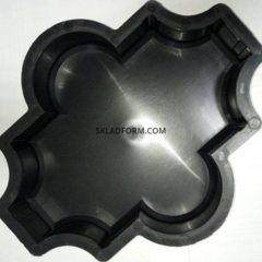 Форми для тротуарної плитки Клевер гладкий 6 см