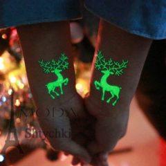 Татуировки новогодние водные, светятся в темноте.