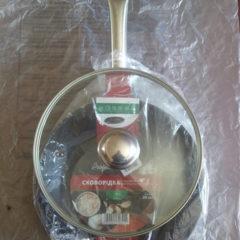 Экологическая сковорода 26 см, индукция со стекл. крышкой на подарок.