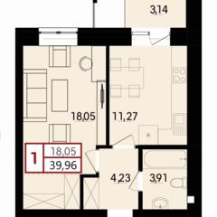 1-кімнатна квартира в побудованому будинку, ближні Гречани