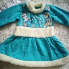 Новорічне платтячко снігурочки, на дитину ростом до 68см