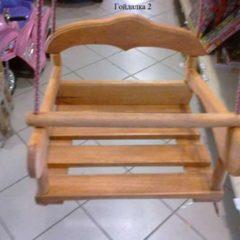 Для дачи детские деревянныя качели