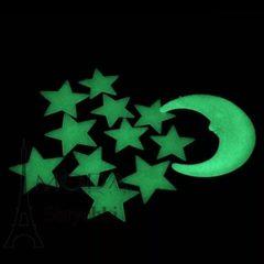 Фосфорные наклейки, луна и звездочки