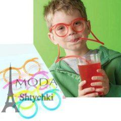 Веселые детские очки - трубочки для напитков