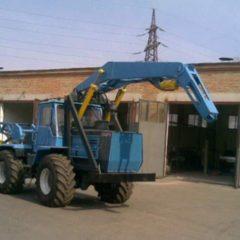 Ямобур БКМ-420х2.5 для трактора Т-150К з крановою установкою