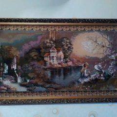 Картина гобелен в рамі. Розмір 1,45*80см